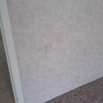 09 Master bedroom wall damage